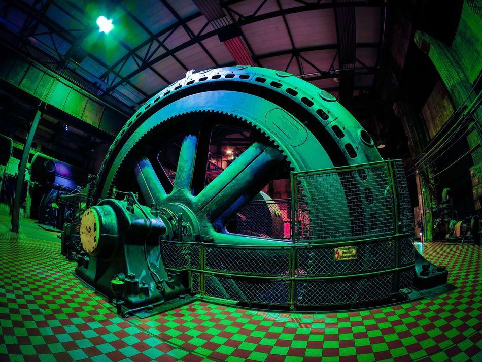 Green Color Engine Manufacturing Equipment Military No People Völklingerhütte World Heritage Saarland Lostplaces Culture Iron Abandoned