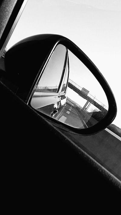 Car Highway Bridge Blanck And White. ✨