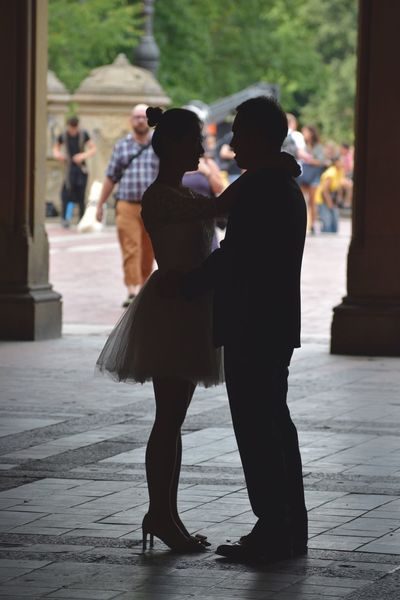 Love in First Sight. Togetherness Lifestyles Well-dressed Outdoors Love In Love Soon To Be Married Central Park CentralPark Central Park - NYC Park Bethesda Terrace