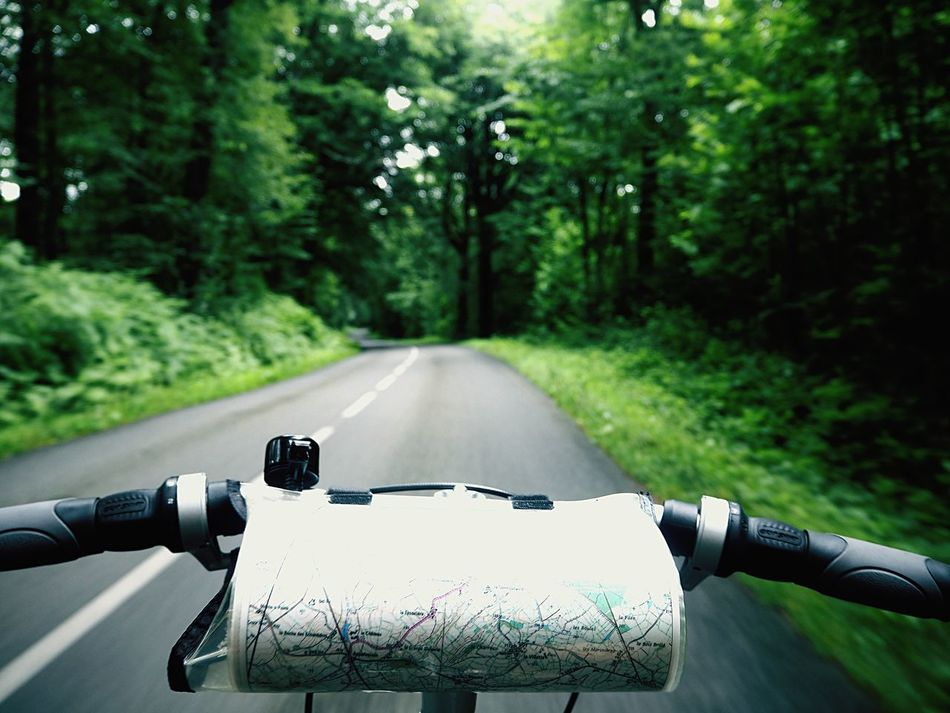 CyclingUnites Cycling Handlebar Handles Forest Speed Nohands Bike Tour Map