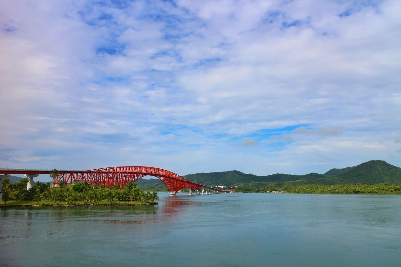 San Juanico bridge Cloud - Sky Sky Outdoors Water Nature Day Mountain Vacations Travel Destinations No People Beauty In Nature Landscape Bridge - Man Made Structure Bridge Philippines Samar Leyte, Philippines Sanjuanicobridgeview Sanjuanicobridge Nature Built Structure Connection Architecture