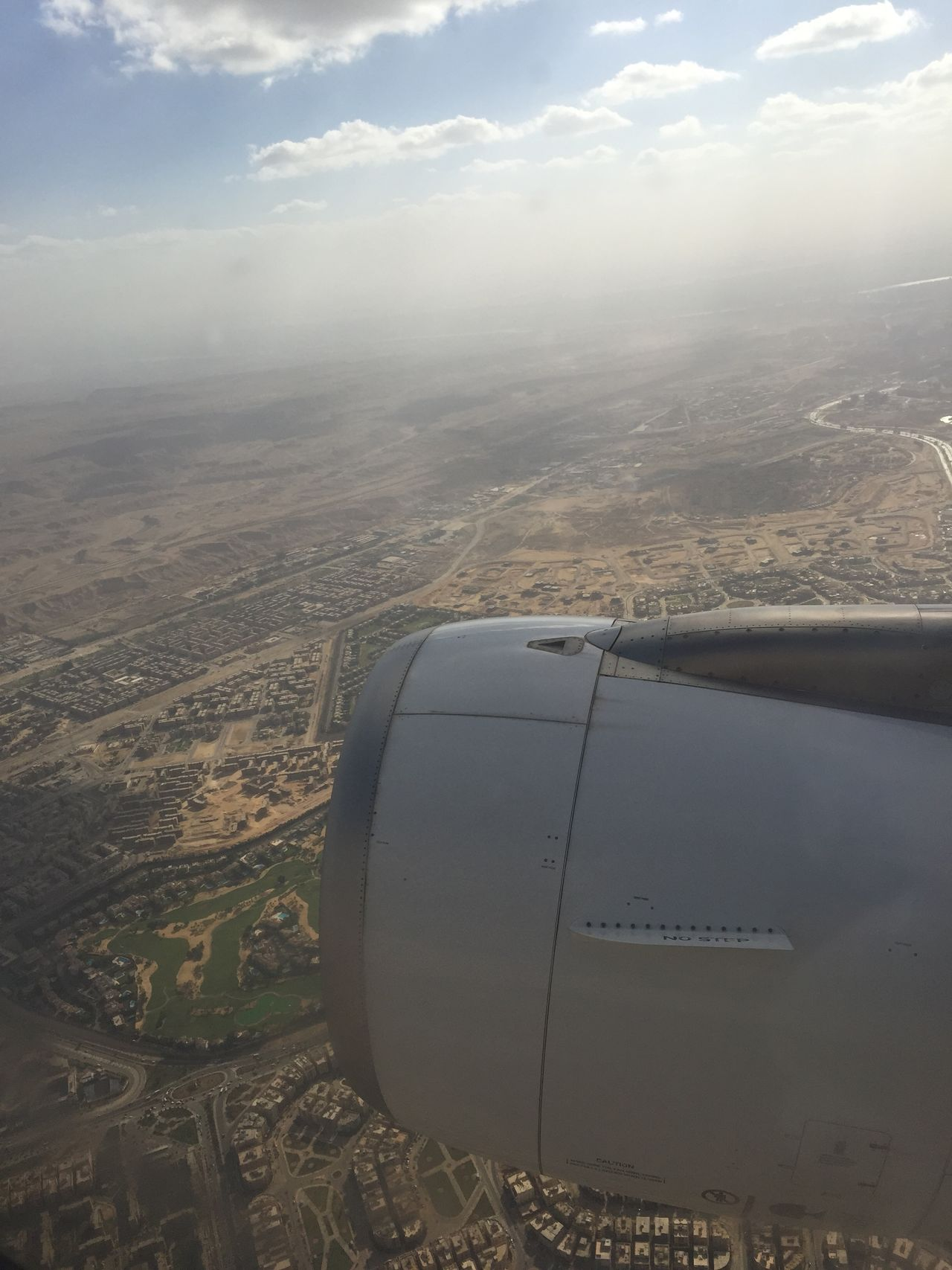 Aerial View Airplane Engine Enjoying The View Flying Mid-air Nature No People Sky And Clouds Sky View Window View
