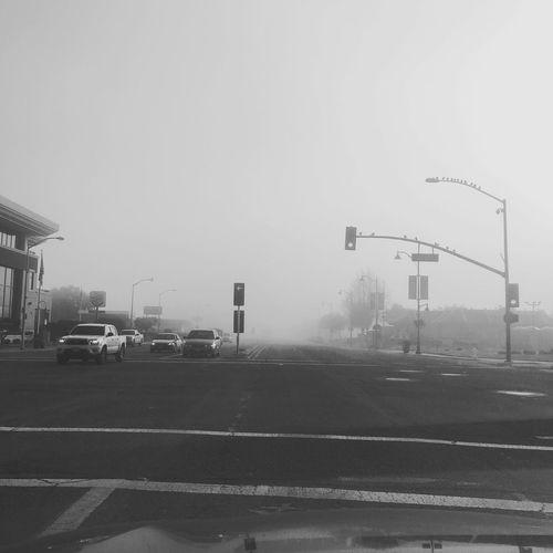 IPhoneography Iphonephotography Winter Foggy Morning Composition Blackandwhite Elcamino Morningcommute  Road Changing Seasons IheartSantaClara