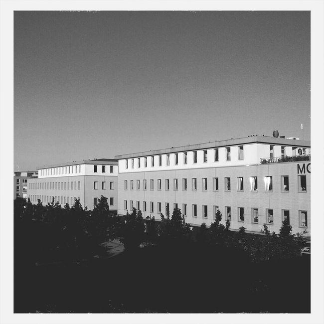 Black & White Urban Geometry Building And Sky