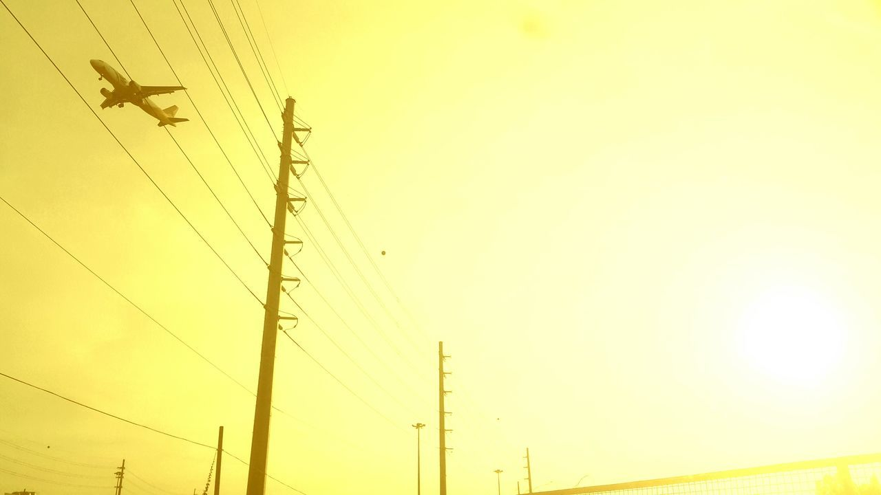 Be back Safe Yellow Electricity  Sunset Low Angle View No People Nature Sky Outdoors Connection Beauty In Nature Electricity Pylon Technology Day First Eyeem Photo