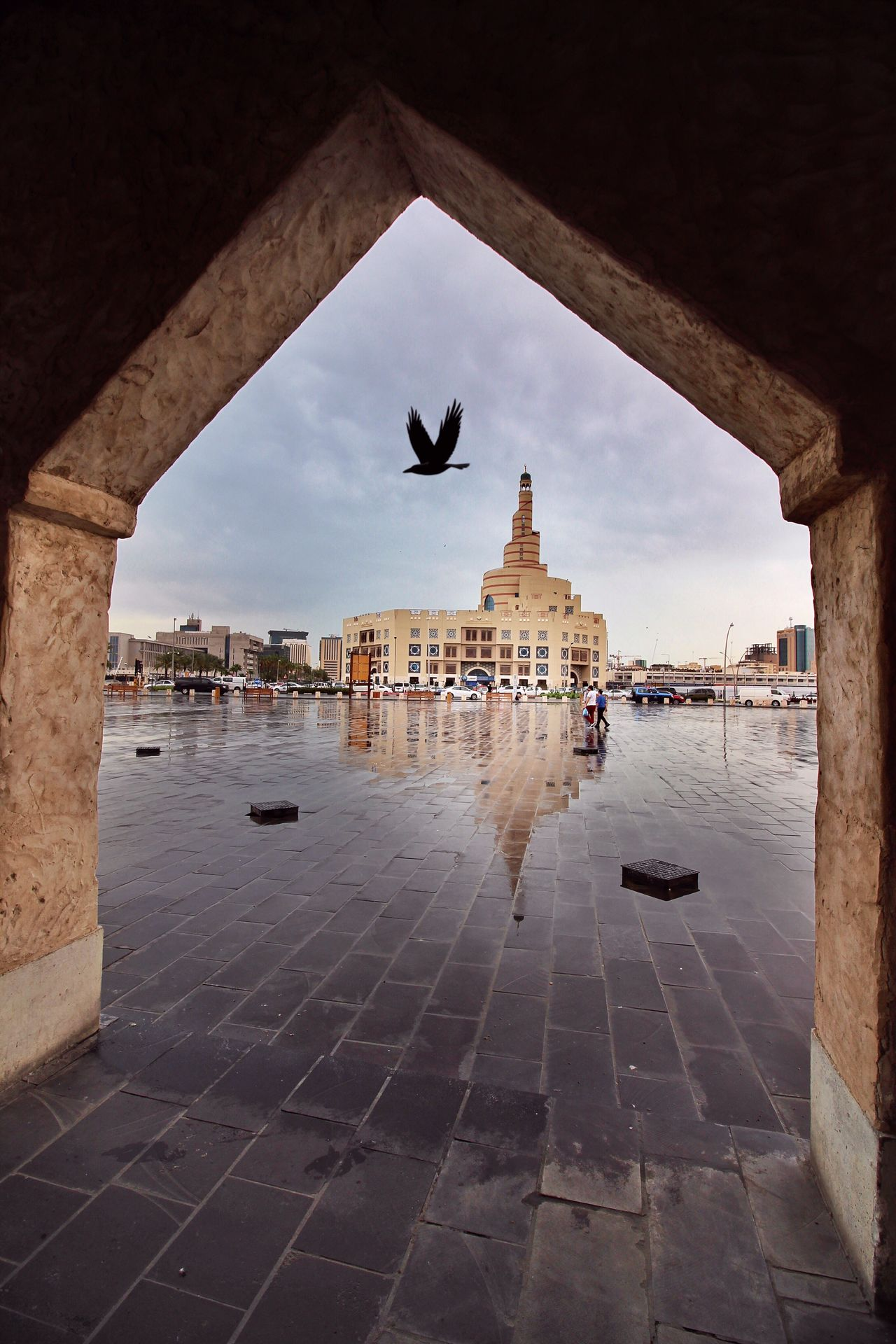 Here Belongs To Me Doha,Qatar Doha Masjid Rain Urban Spring Fever Spring