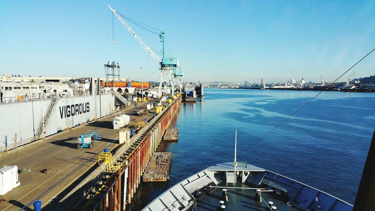 Water Sea No People Day Sky Maritime Shipbuilding AMHS Ferry Vessel Portland Oregon Industry