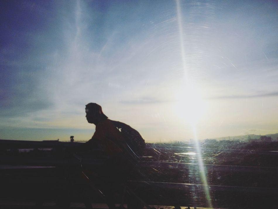 Taking Photos Randomshot Sunset Taxiviews Mactanbridge Cebu,Philippine