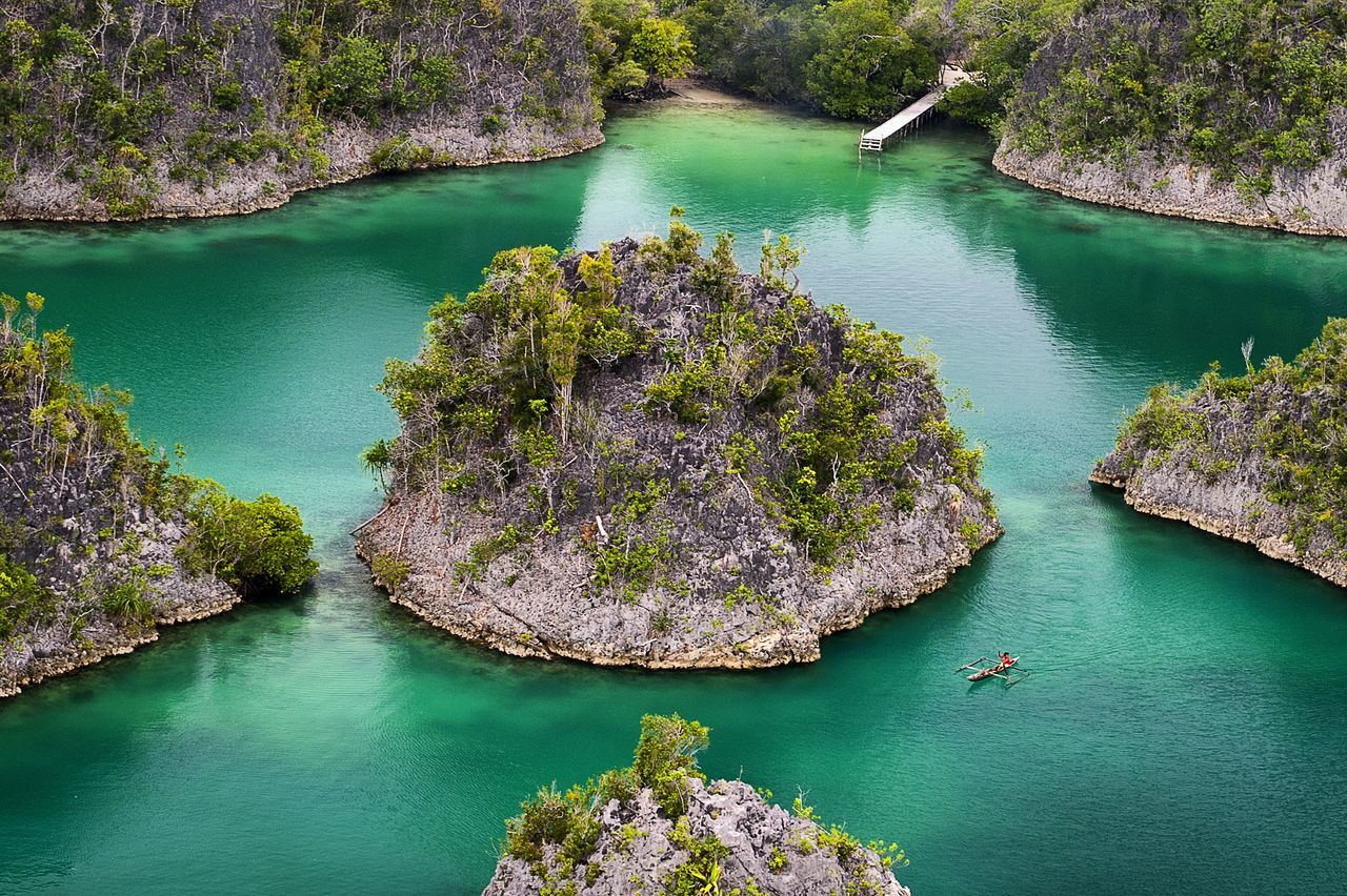 _Pianemo, Raja Ampat_. Water Nature Beauty In Nature Outdoors Landscape INDONESIA Nature Beauty In Nature One Person Awsomenature