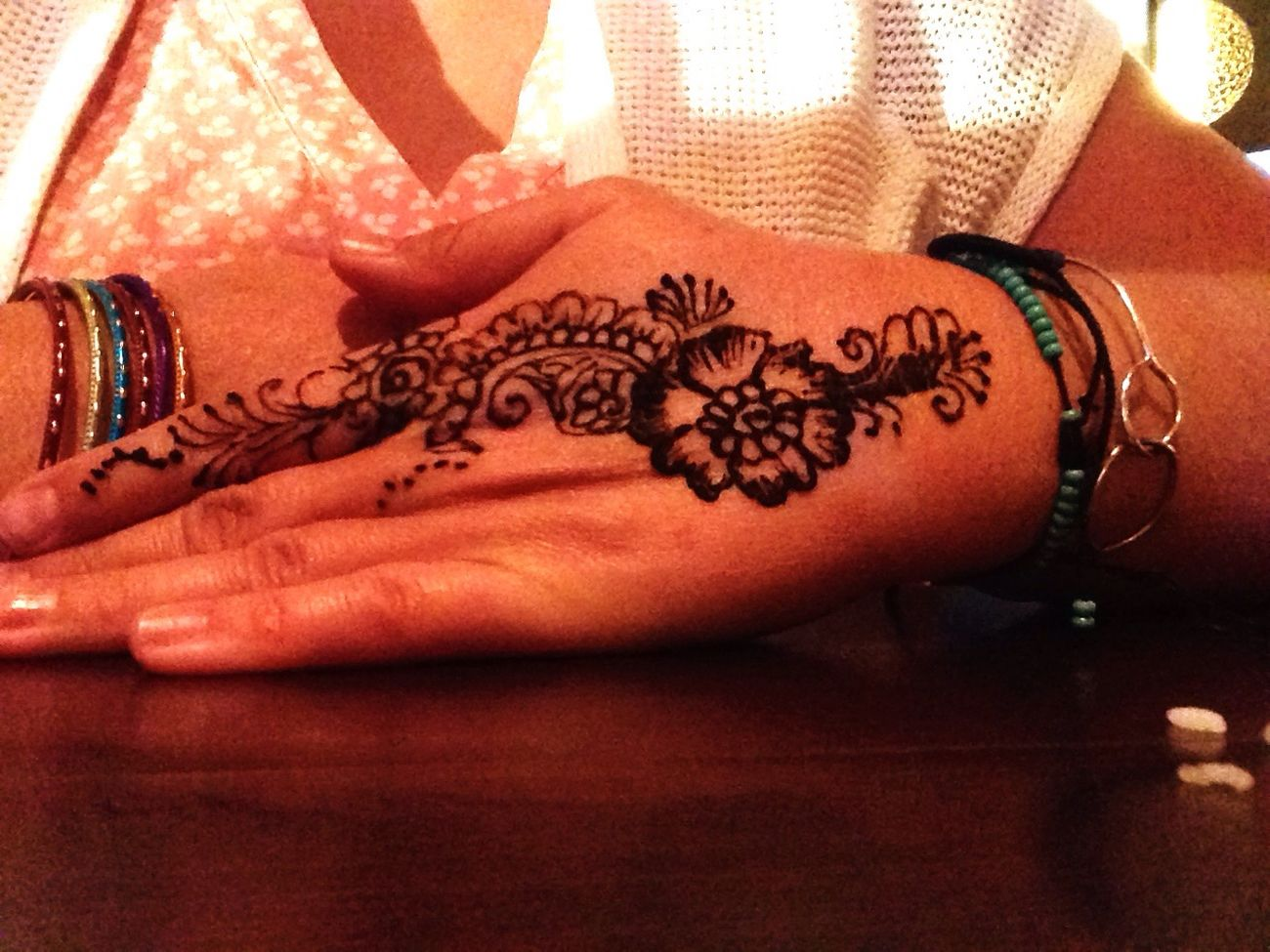 Getting Mehndi
