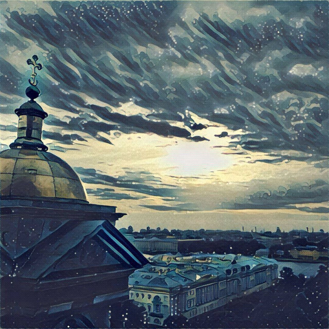Saint Petersburg Saint Isaac's Cathedral Isaakievskiy Sobor Architecture Cityscape Sky Tourism Prisma Built Structure Sea City View
