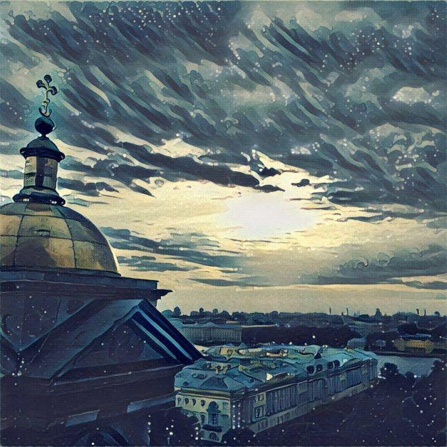 Saint Petersburg Saint Isaac's Cathedral Isaakievskiy Sobor Architecture Cityscape Sky Tourism Prisma Built Structure Sea City View