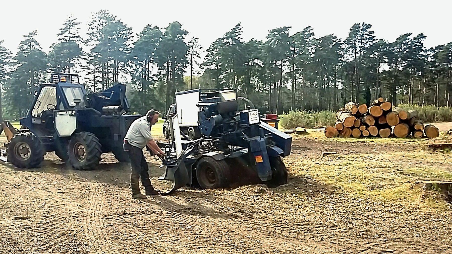 Serious grind Tree Surgeon Arborist Stumps Overkill Treebiz First Eyeem Photo