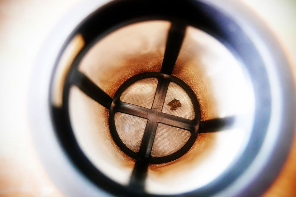 Empty old teafilter Close-up Tea Tea Time Teafilter Filter Sieve  Tee Teesieb