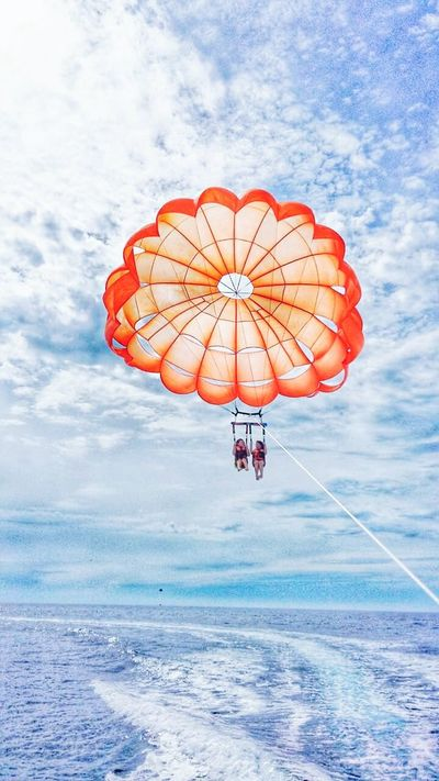 Fly high First Eyeem Photo Photography Parasailing Boracay Philippines