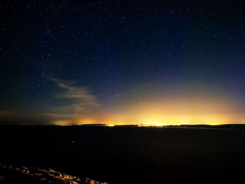 Night Sky over Portugal Beauty In Nature Tranquil Scene Scenics Tranquility Night Nature Silhouette Star - Space No People Sky Outdoors Astronomy Starry Landscape Galaxy Portugal Stars Nightphotography Long Exposure Darkness And Light