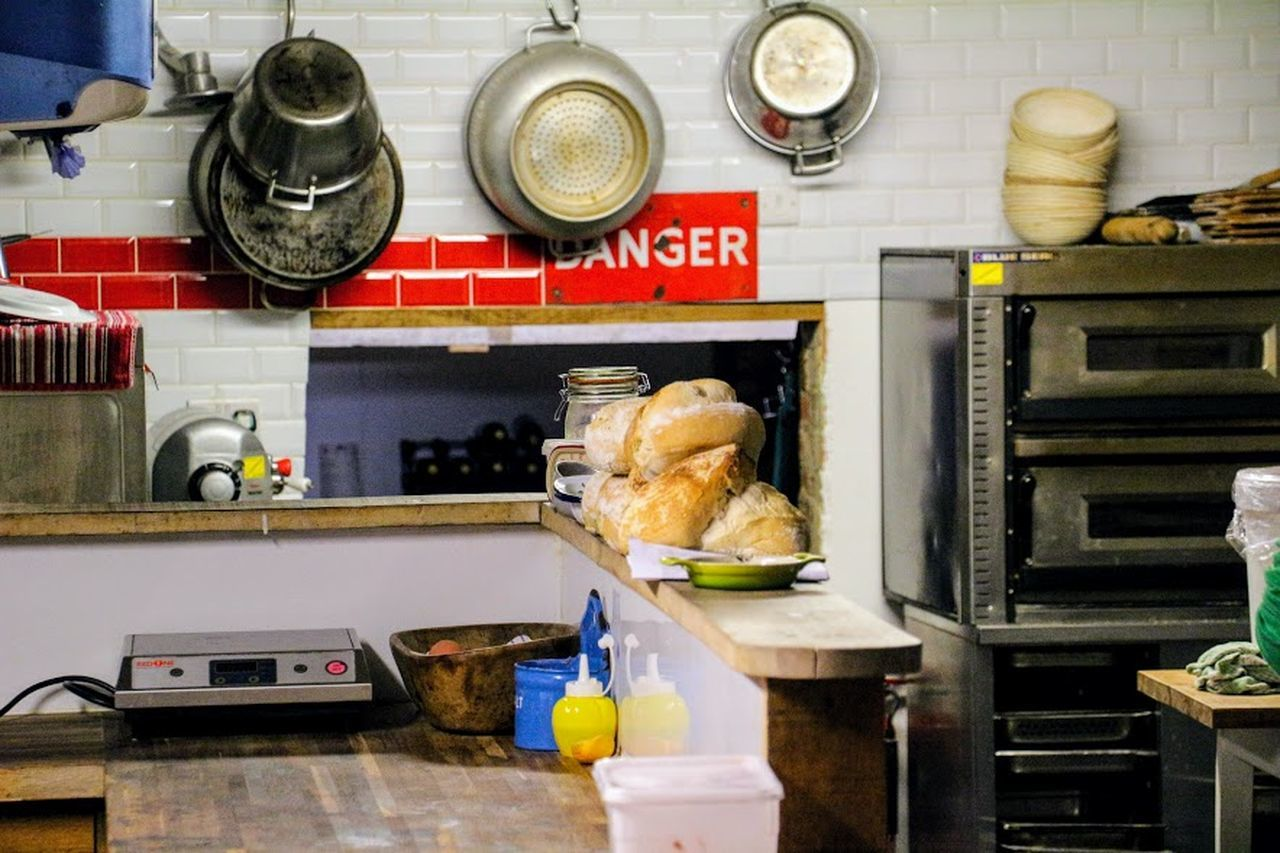 Commercial Kitchen Day Domestic Kitchen Domestic Room Food Food And Drink Food And Drink Establishment Freshness Indoors  Kitchen Kitchen Life Kitchen Stories Kitchen Utensil Mammal No People Pans Pots Stove Wall Tiles