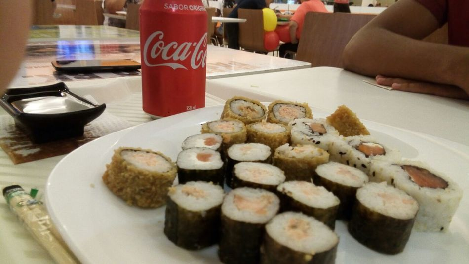 Sushi por amor 🍣💕 Food And Drink Food Indoors  Plate Ready-to-eat Temptation Freshness