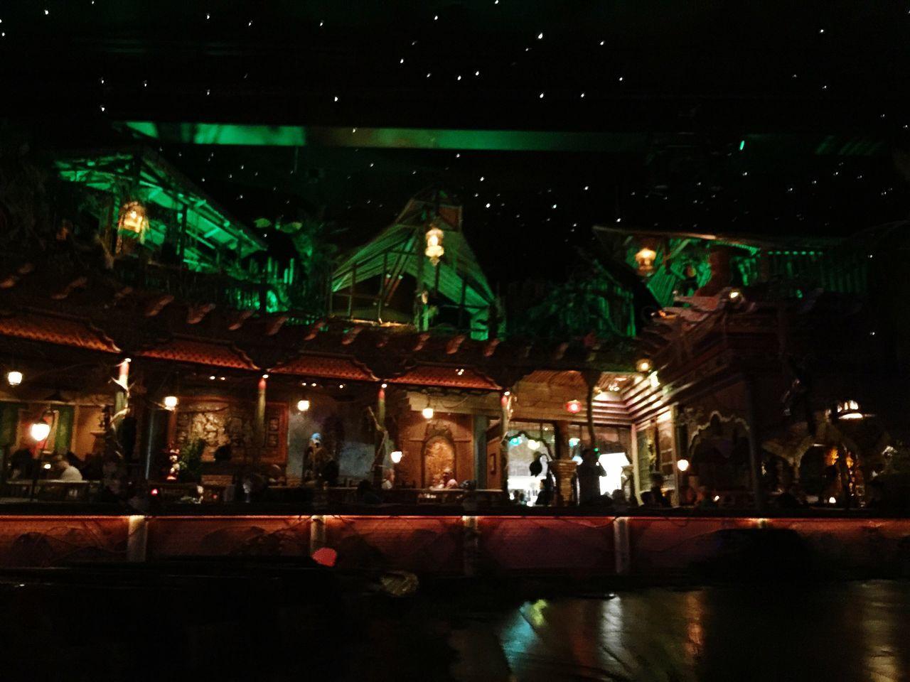 Thai Food Thai Restaurant Nightphotography Water Reflections Lights Light And Shadow