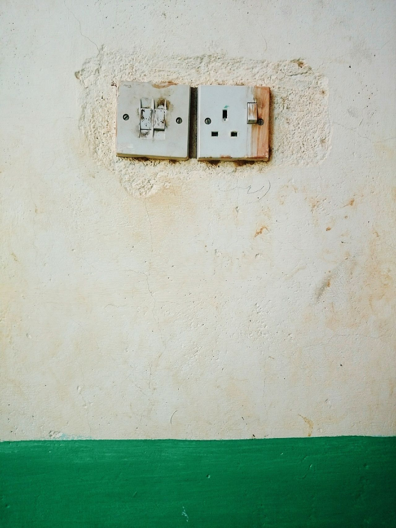 Outdoors Day No People Socket Sockets Green EyeEm Best Edits First Eyeem Photo EyeEm Best Shots Taking Photos Design Designing Check This Out Built Structure Architecture Building Exterior Electricity  Green Color Green Line Electric On Off OnOff Pairs Pair