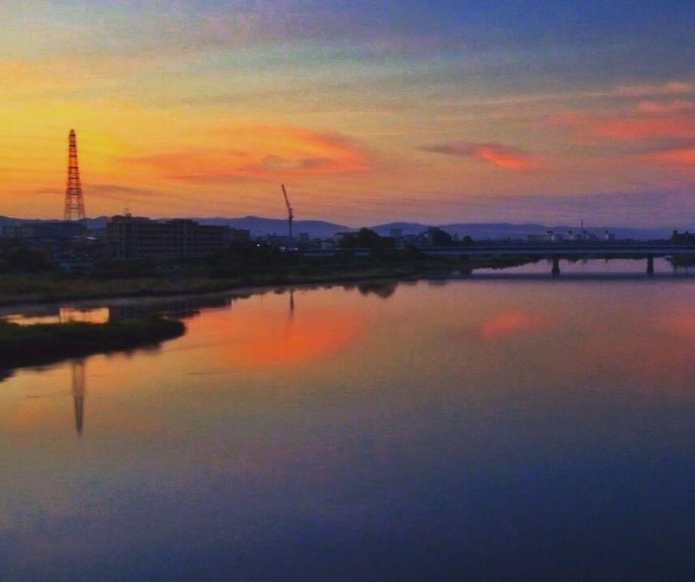 桂川 Sunrise River Kyoto Japan
