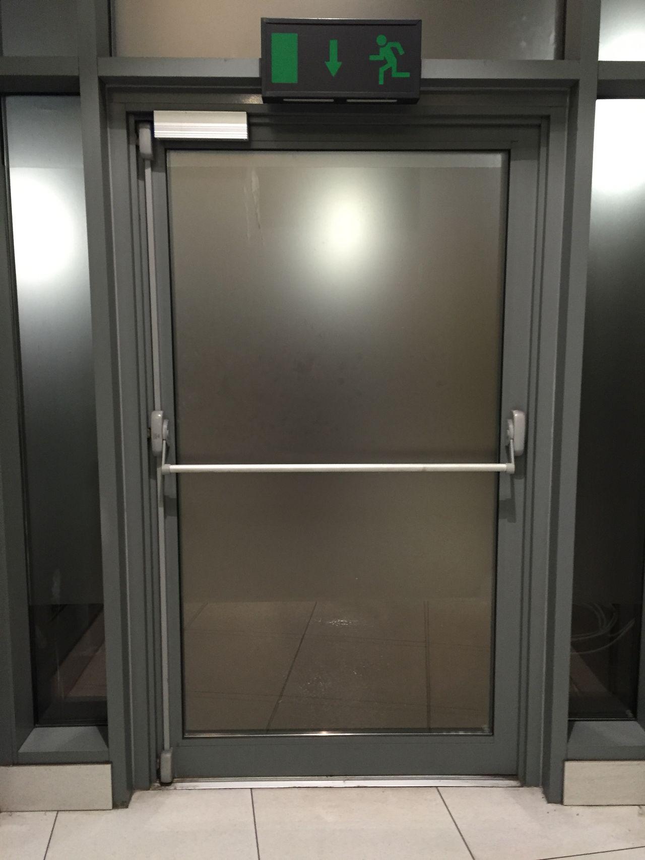 Fire Escape Fire Exit  Door Escape Window Windows Doorway Grey Gray Handle Bar Push Push To Open