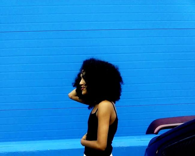Blue. Wall and soul.
