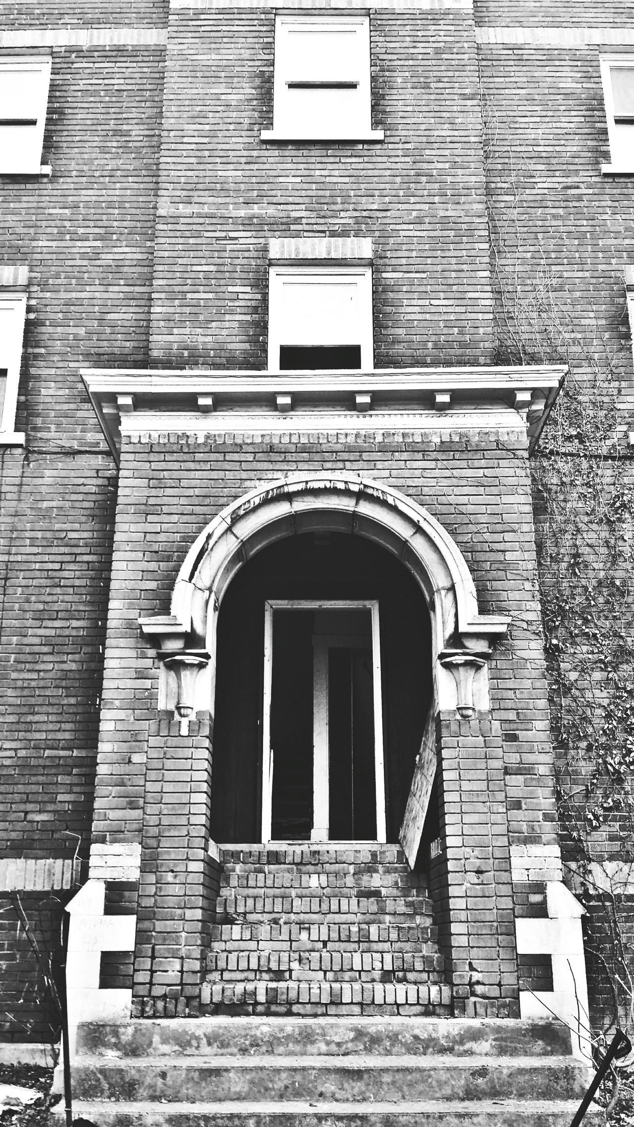 Doorway To Another World Bad Places Abandoned And Derelict Blkandwht Dark And Mysterious Popular Photos Blackandwhite Photography Doorporn