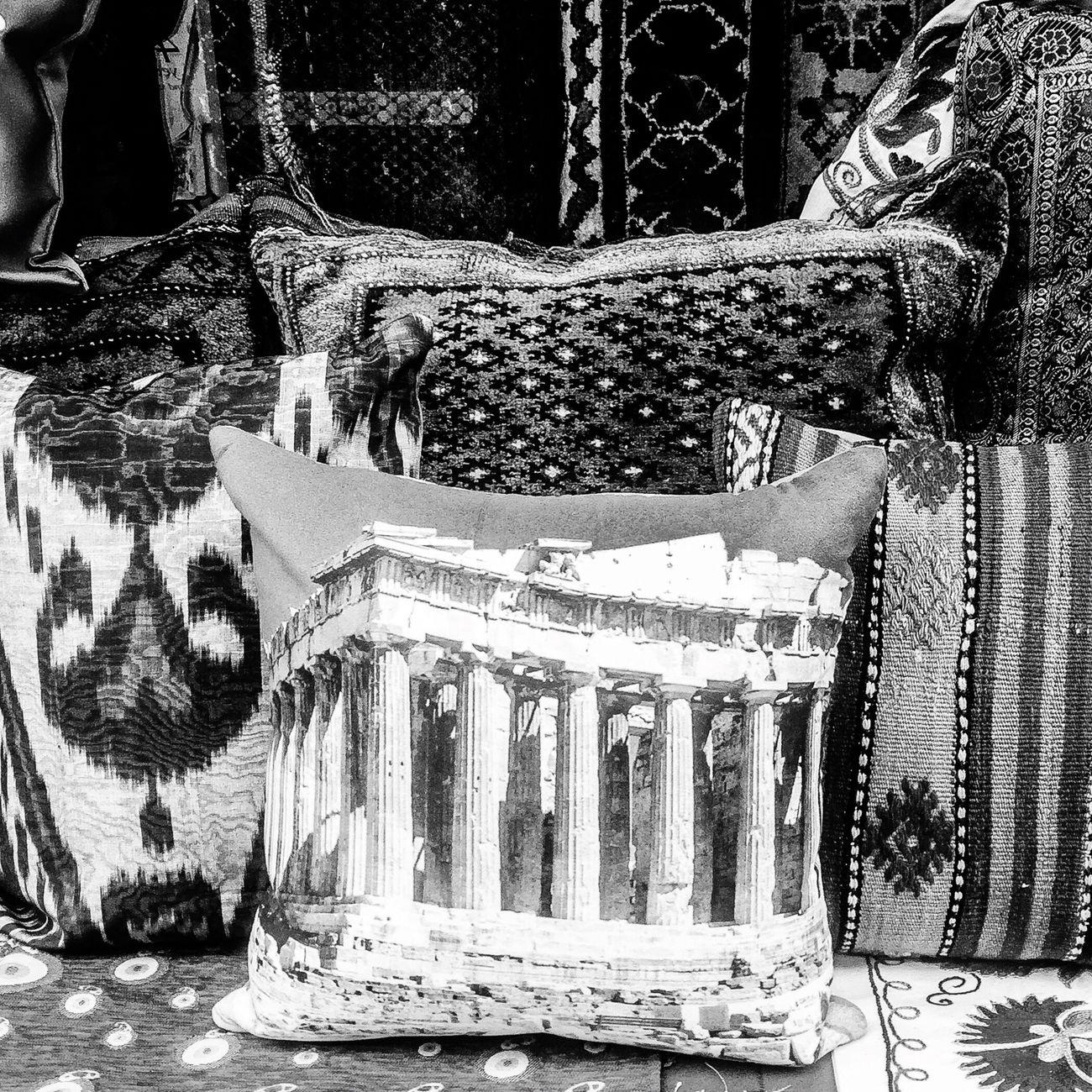 Pillow talk Pillow Feeling Sleepy Monday Blackandwhite Parthenon Acropolis Greece Athens Greece