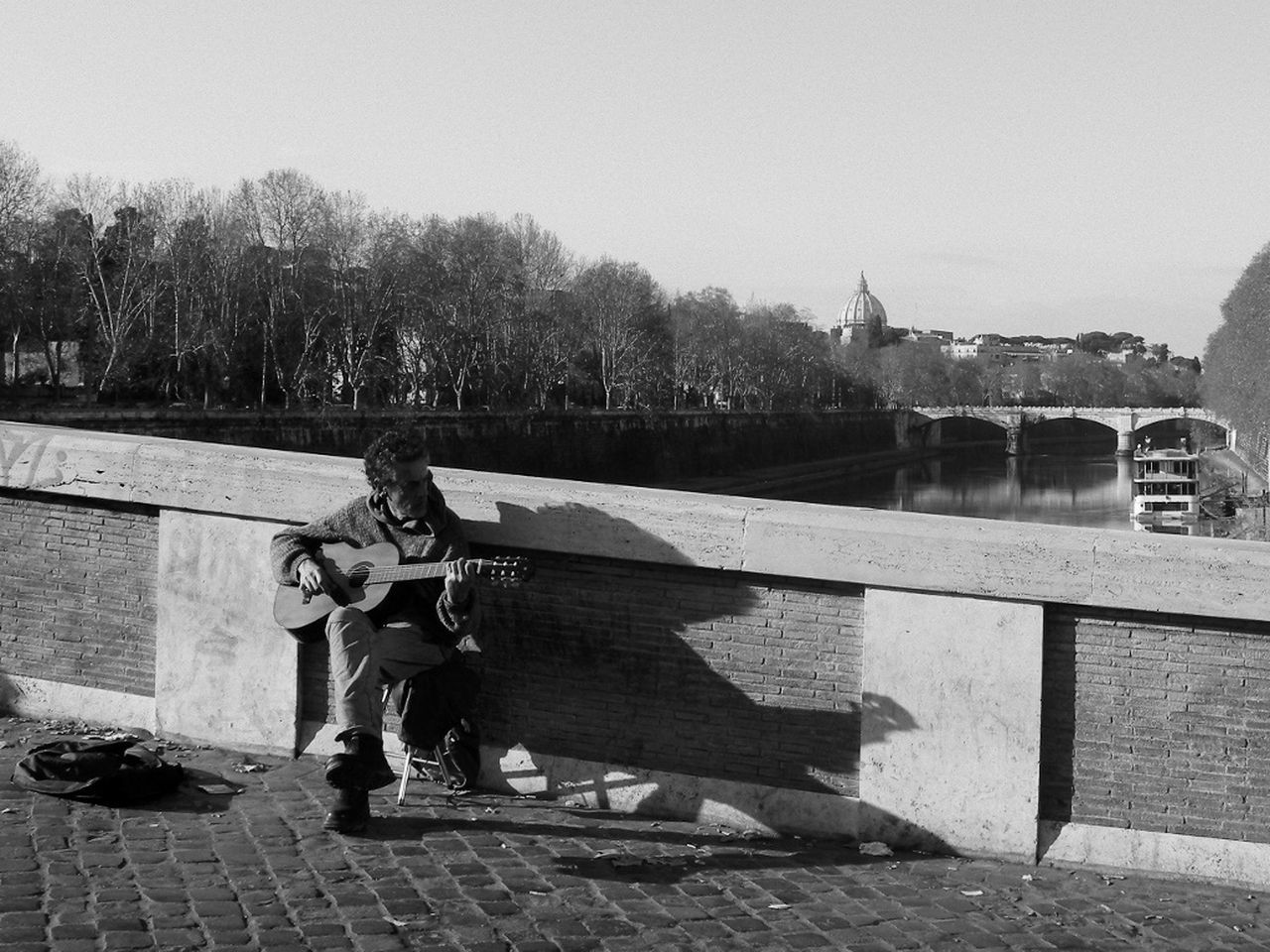 TheMinimals (less Edit Juxt Photography) Blackandwhite Walking Around The City  Bridge Streetphotography Streetphotography_bw Black & White Things I Saw Today Sunny Day Streetmusician