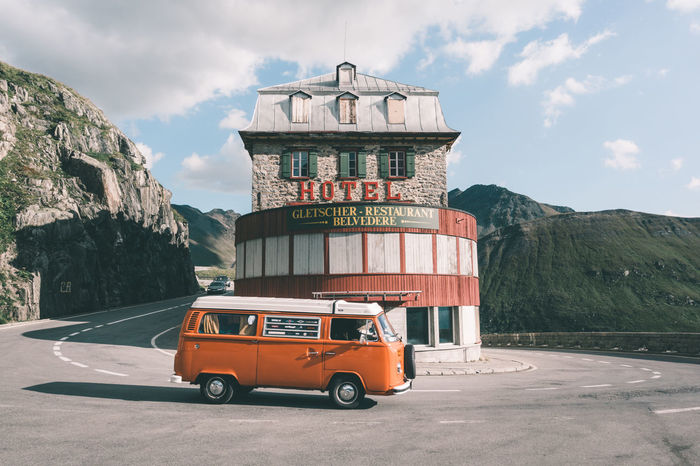 Lovely camper van at Furka mountain pass in Switzerland Adventure Alps Camper Camper Van Camping Car Classic Flowerpower Furka Furkapass Hippie Hotel Road Road Trip Roadtrip Schweiz Suisse  Swiss Swiss Alps Switzerland Van Vintage Vintage Cars Volkswagen VW Traveling Home For The Holidays The Great Outdoors - 2017 EyeEm Awards