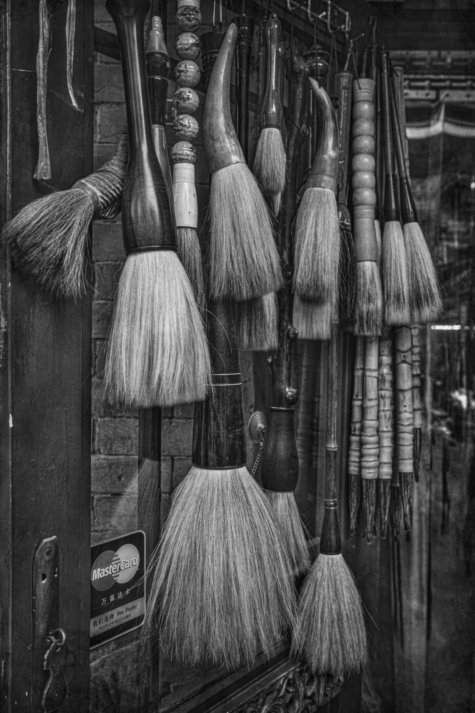 Art Arts Culture And Entertainment Beijing Black & White Brush Brushes Calligraphy Calligraphyart China China Beauty Chinese Art Chinese Culture Cleaning Equipment Close-up Equipment EyeEm Best Shots Eyeem In Beijing No People Painting Wood - Material