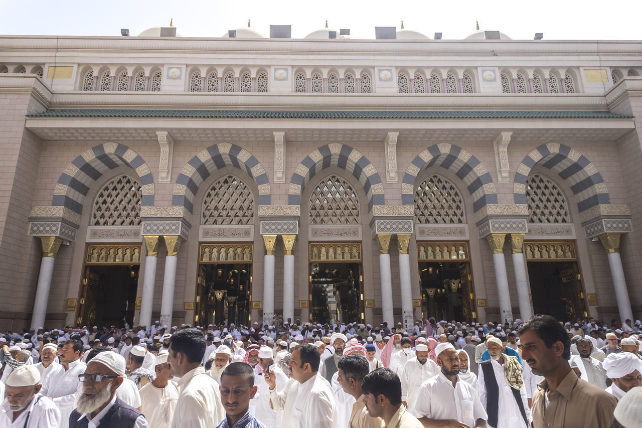Allah Arabic Architectural Column Architecture Crowd Medina Mosque MUHAMMAD Muslim Muslim Brothers Nabawi Nabi Place Of Worship Pray Religion Solat