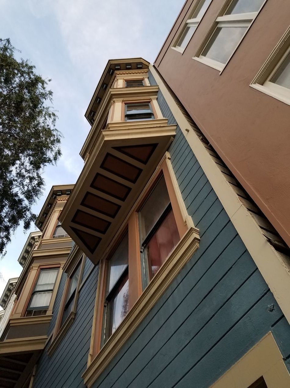 Architecture Low Angle View Staircase No People Building Exterior Built Structure Outdoors Cloud - Sky Day Sky City Life San Francisco Northbeach