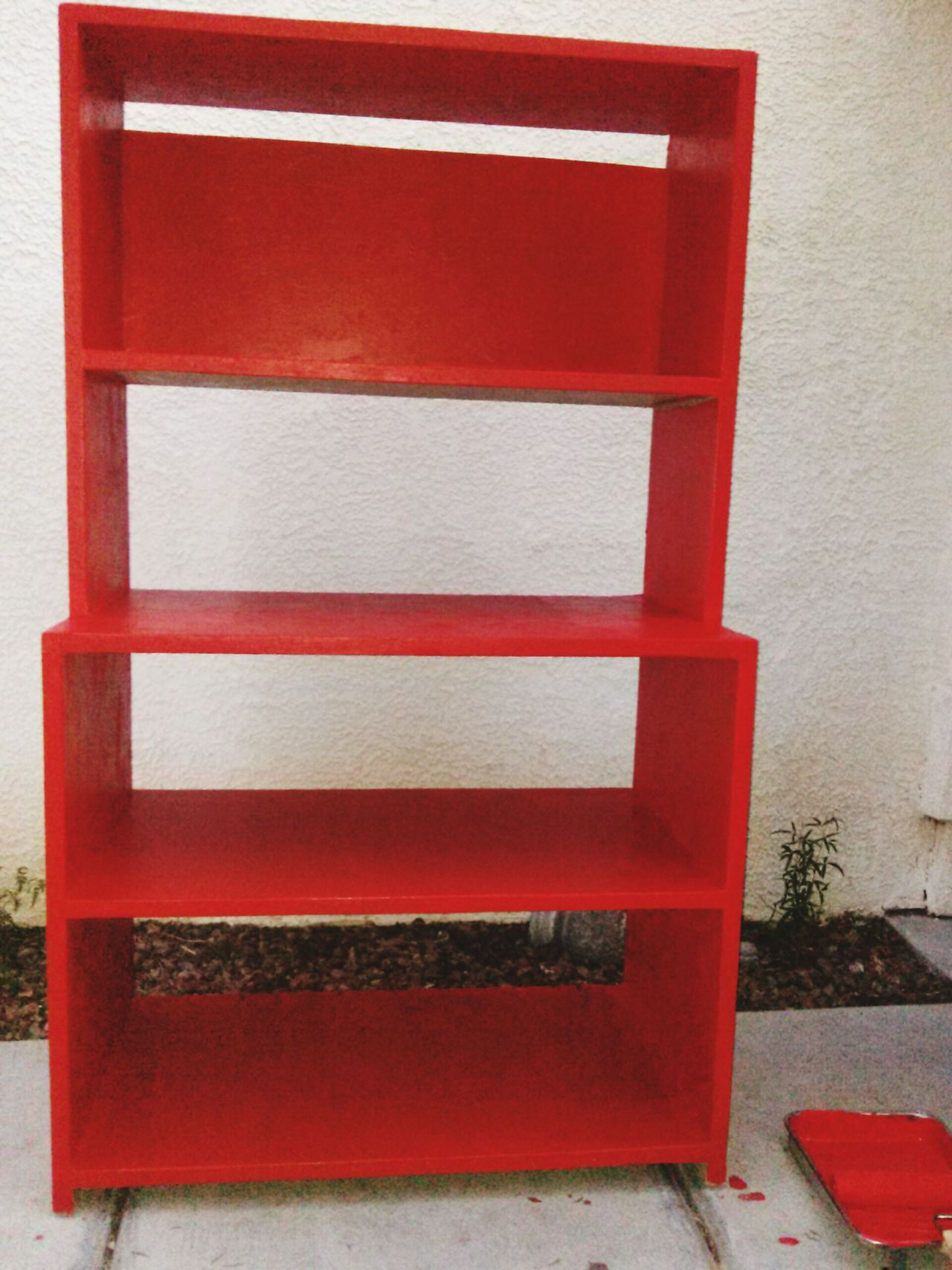 Finished project. Bright Paint Orang Red DIY