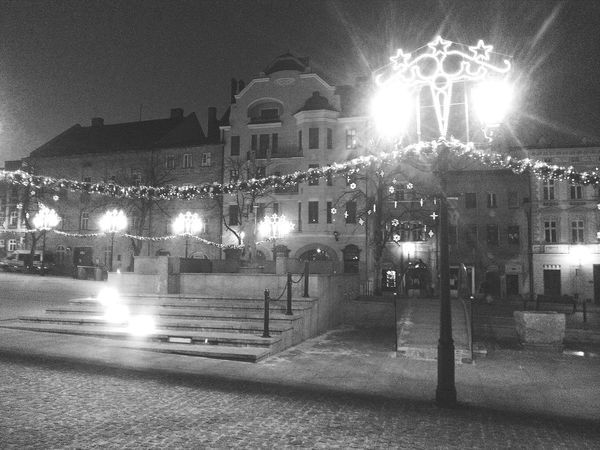 Discover Your City Monochrome Poland Night Photography Bielsko-Biała