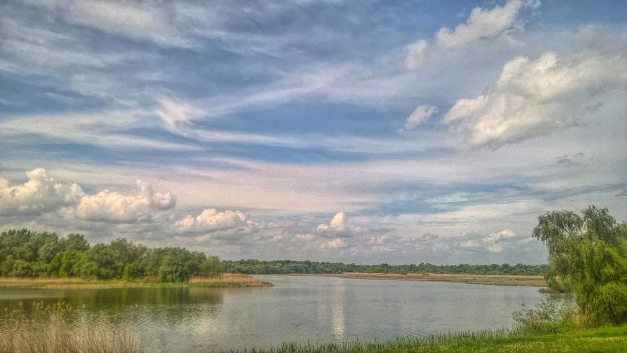Beauty In Nature Cloud - Sky Day Grass Lake Lakeview Landscape Nature No People Officeview Outdoors Reflection Scenics Sky Tranquil Scene Tranquility Tree Water