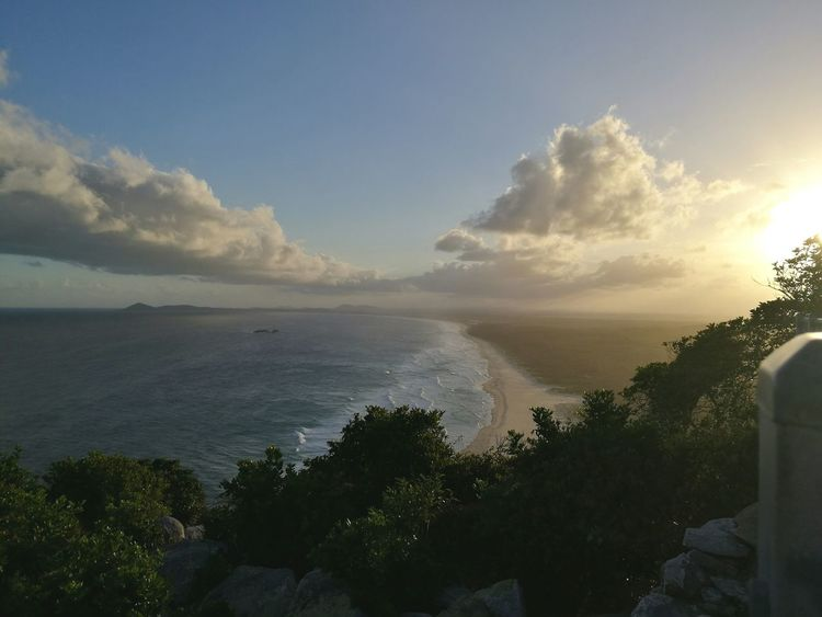 Nature Beauty In Nature Landscape Scenics Tree Outdoors Cloud - Sky Sun Sunset No People Traveling Australia Shoreline New South Wales  Sunlight Day Light Lighthouse View View From Above Beach Mountain Beachside Ocean Ocean View