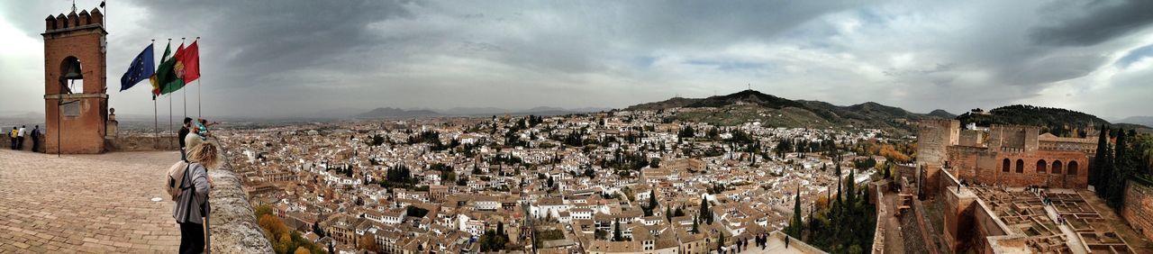 Desde la Alhambra al Albaicin Panorama Landscapes Architecture