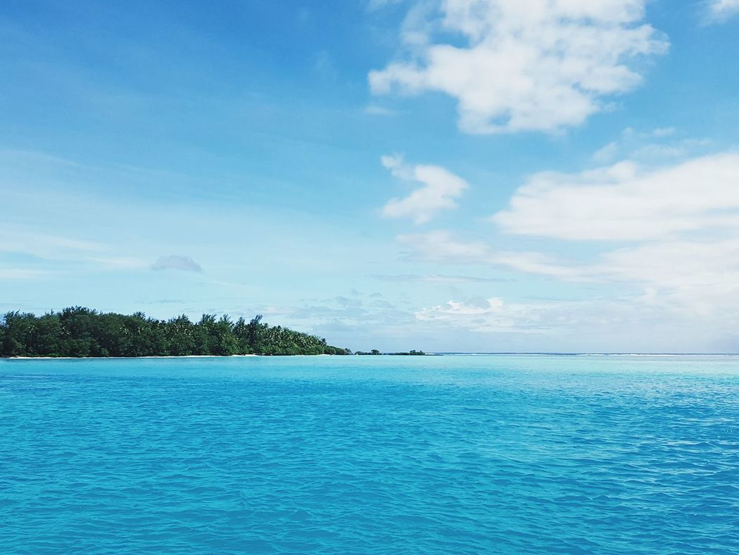 Tropical Paradise Pacific Islands Blue Water Blue Sky