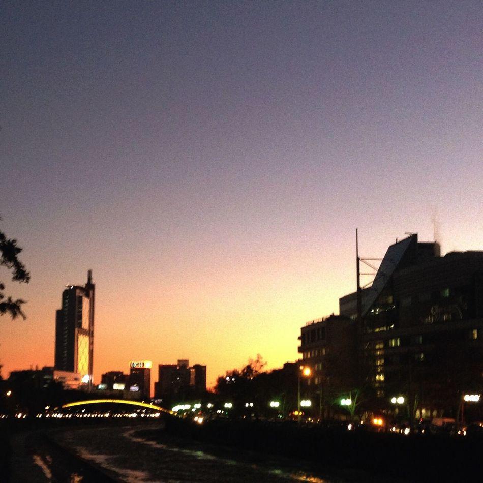 Geometric Shapes Sunrise View Architecture