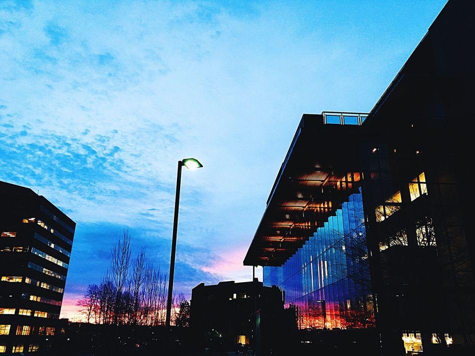 Outdoors No People EyeEmNewHere Sunset Night City Architecture Downtown Washington Sky Reflection