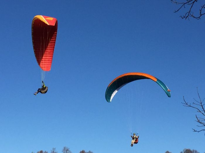 Paragliding Wintertime Sky_collection Sunny Day