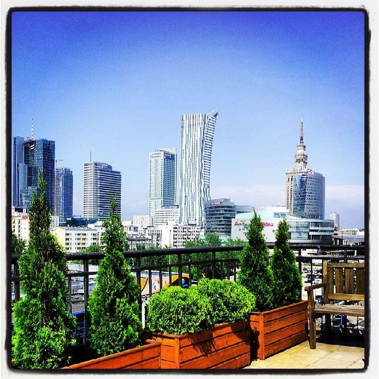 Warszawa  Palackultury Centrum Warsaw polishcity capitalcity senowarszawie bezchmurne niebo