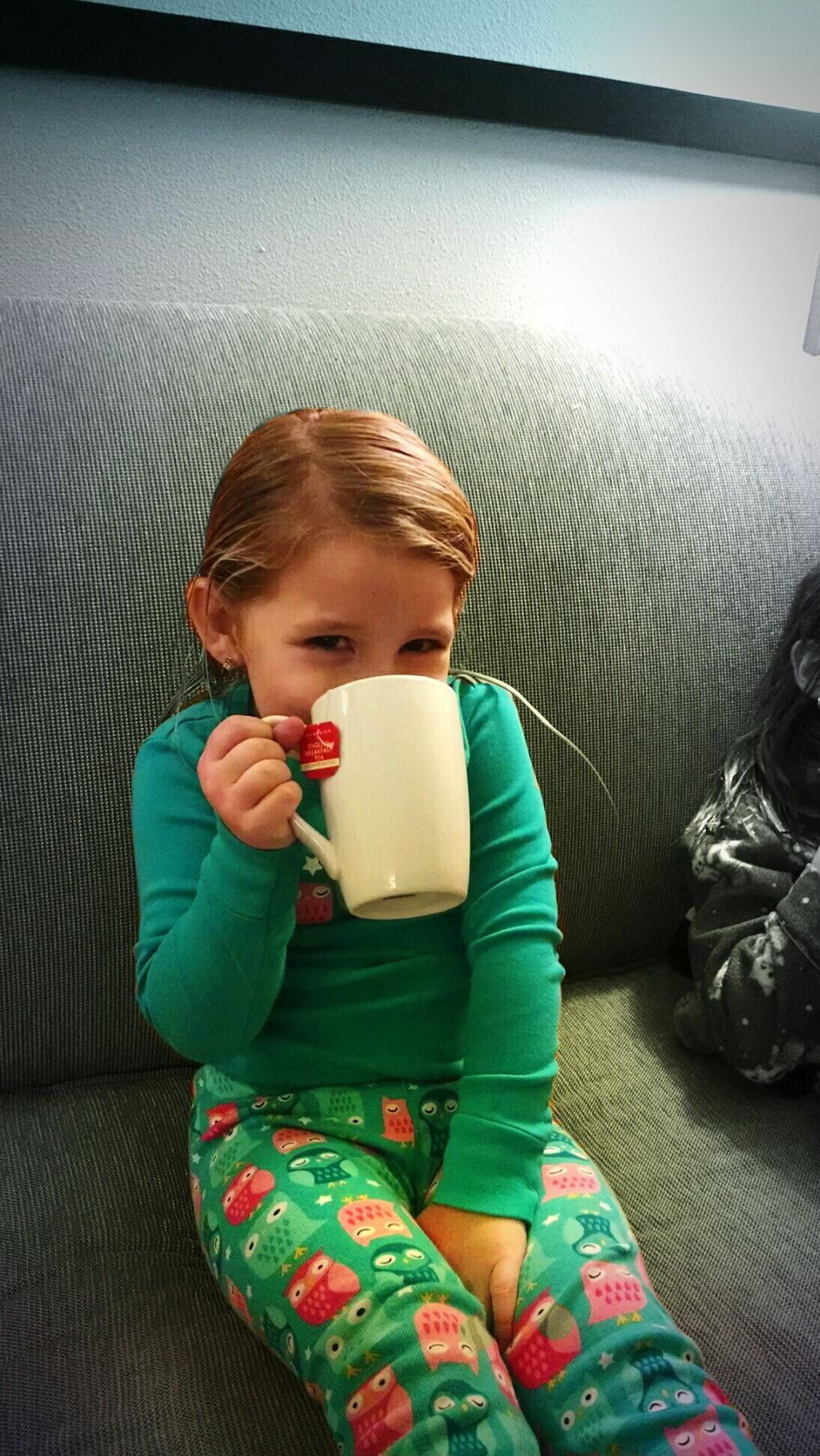 My Cousin drinking hot chocolate like its Tea. Adorable Kids Beautiful Family Cutiepie Blondie Beautiful Girl Adorable Smile