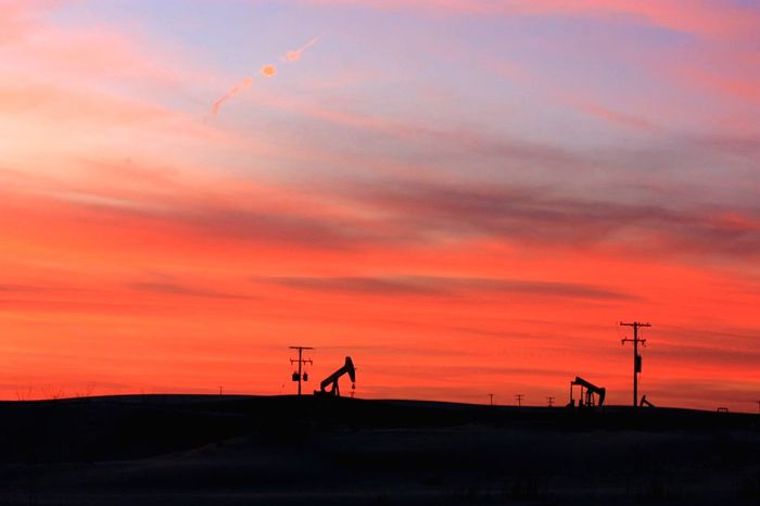 Sunset Sky Fuel And Power Generation No People Beauty In Nature Silhouette Industry Nature Scenics Outdoors Technology Industrial Equipment Pump Jack Petroleum Oilfield