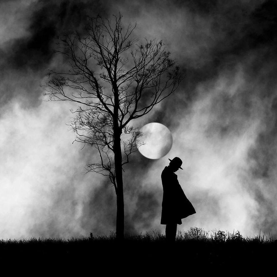 Beautiful stock photos of full moon, Casual Clothing, Circle, Cloud - Sky, Full Length