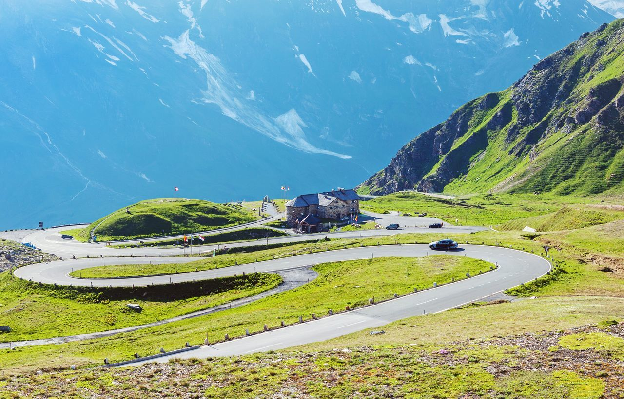 Mountain Scenics Landscape Tranquil Scene Nature Non-urban Scene Beauty In Nature Outdoors Majestic Mountain Range Grossglockner Austria Serpentine Road Tranquility