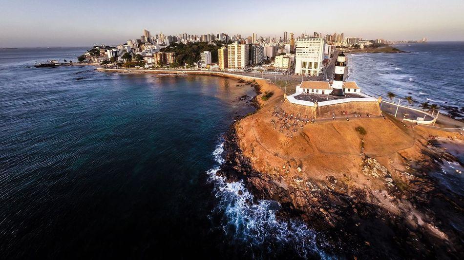 Farol da barra - Salvador - Bahia - Brasil Lighthouse Faroldabarra Salvador Bahia Brazil Brasil Beach Aerial Shot Panorama