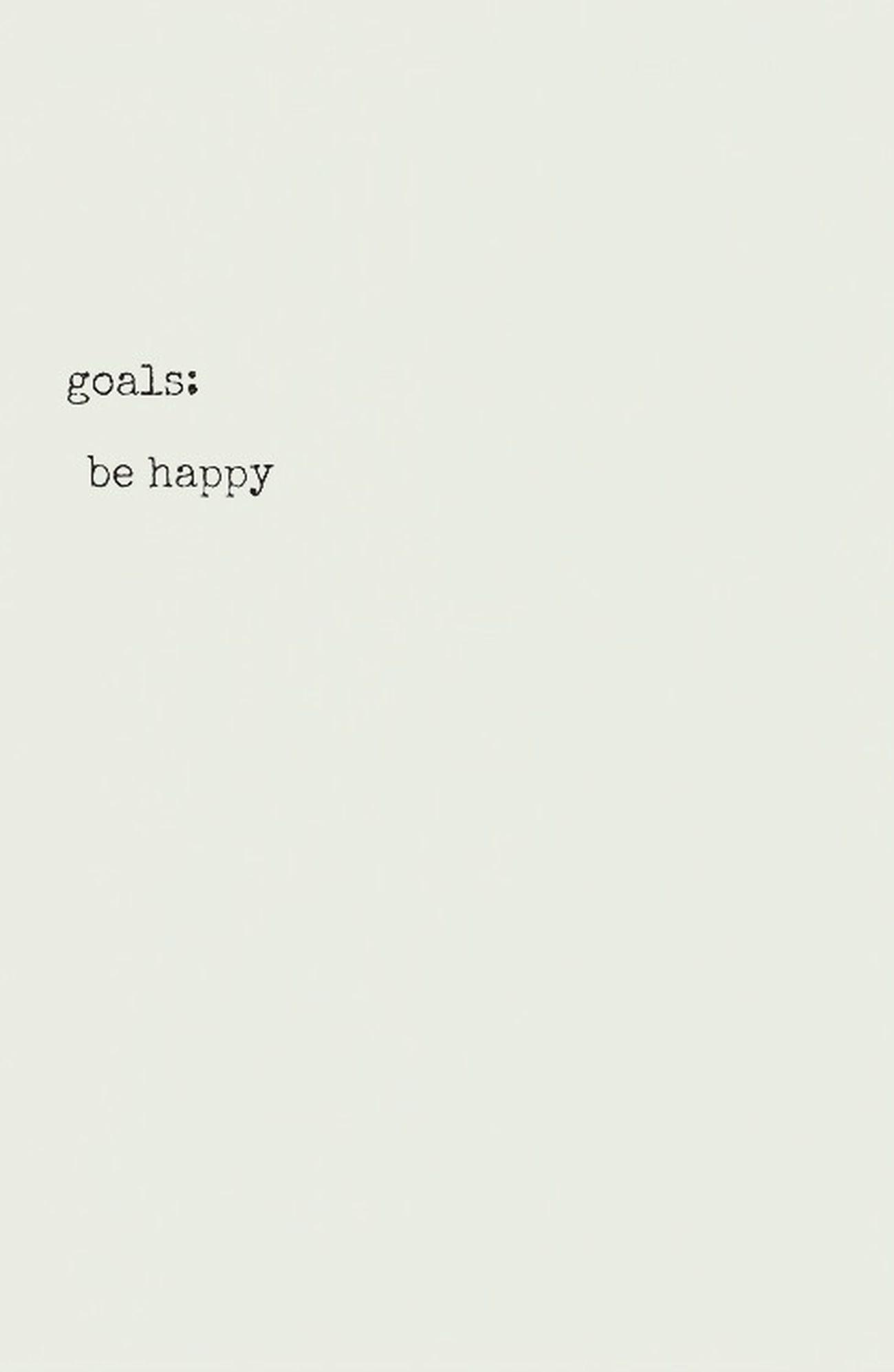 Goals Behappy Lebe